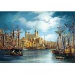 Puzzle  Castorland-300167 Sonnenaufgang am Hafen