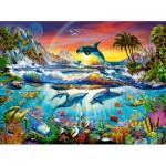 Puzzle  Castorland-300396 Paradiesische Bucht