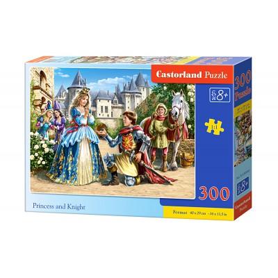 Puzzle Castorland-30040 Die Prinzessin und der Ritter