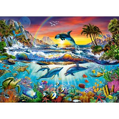 Puzzle Castorland-30101 Paradiesische Bucht