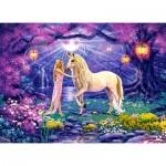 Puzzle  Castorland-30224 Unicorn Garden