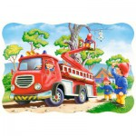 Puzzle  Castorland-3358 Katze in Not