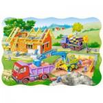 Puzzle  Castorland-3372 Hausbau