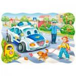 Puzzle  Castorland-3389 Der Schulweg
