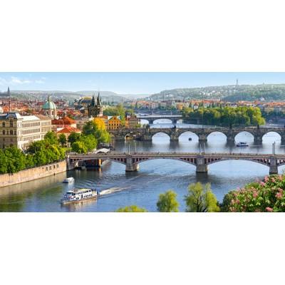 Puzzle Castorland-400096 Moldau-Brücken in Prag