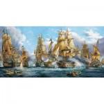 Puzzle  Castorland-400102 Seeschlacht