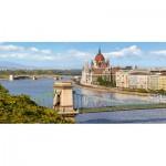 Puzzle  Castorland-400126 Blick über die Donau, Budapest