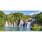 Puzzle  Castorland-400133 Wasserfälle der Krka, Kroatien