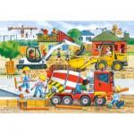 Puzzle  Castorland-40018 Baustelle