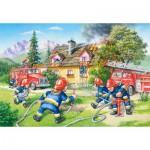Castorland-40025 Maxi Puzzle - Feuerwehrleute in Aktion