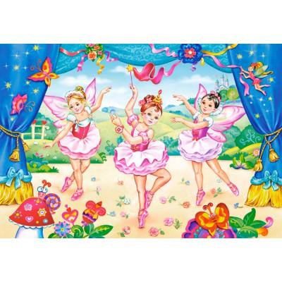 Castorland-40056 Maxi Puzzle - Die kleinen Ballerinas