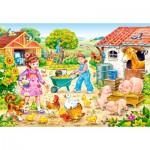 Puzzle  Castorland-40087 XXL-Teile - Bauernhof