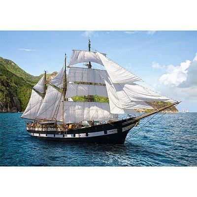 Puzzle Castorland-51496 Segelschiff im Mittelmeer