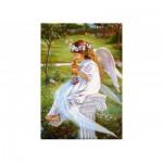 Puzzle  Castorland-51748 Kleiner Engel mit Kätzchen