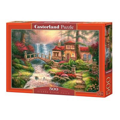 Puzzle Castorland-52202 Chuck Pinson: Sierra Wasserfall