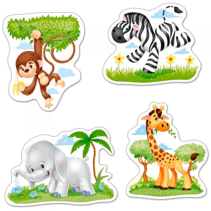 4 Puzzles mit extragroßen Teilen - Tiere Afrikas