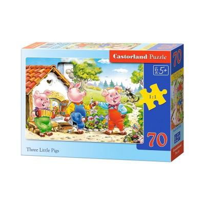Puzzle Castorland-B-007035 Die drei kleinen Schweinchen