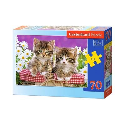 Puzzle Castorland-B-007158 Kätzchen im Körbchen