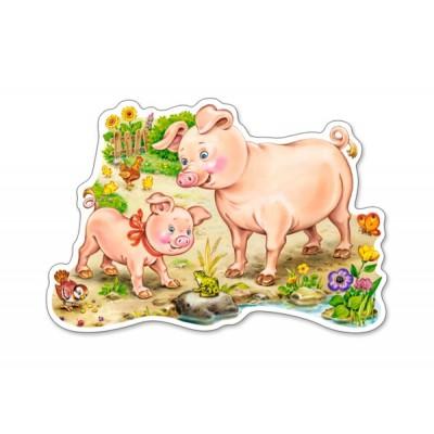 Puzzle Castorland-B-015016 Das Ferkel und seine Mama