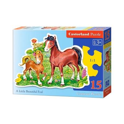 Puzzle Castorland-B-015023 Das kleine Fohlen