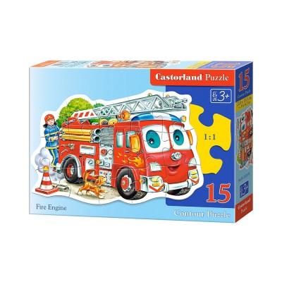 Puzzle Castorland-B-015078 Feuerwehrauto