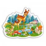 Puzzle  Castorland-B-015115 Tierkinder