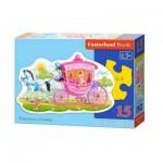 Puzzle  Castorland-B-015122 Die Prinzessin in der Kutsche