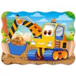 Puzzle  Castorland-B-03464 Gelber Bagger