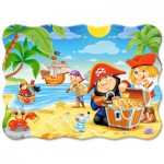 Puzzle  Castorland-B-03488 Der Piratenschatz