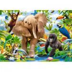 Puzzle  Castorland-B-035021 Dschungelbabies