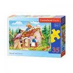 Puzzle  Castorland-B-035038 Hänsel und Gretel