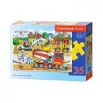 Puzzle  Castorland-B-035069 Baustelle