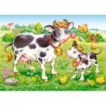 Puzzle  Castorland-B-035090 Kühe auf der Weide