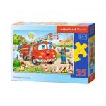 Puzzle  Castorland-B-035106 Feuerwehrleute