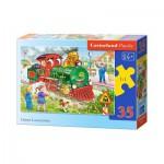Puzzle  Castorland-B-035120 Die grüne Lok