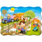 Puzzle  Castorland-B-03563 A Day on the Farm