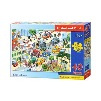 Castorland-B-040100 Extragroße Puzzleteile - Verkehrsunfall