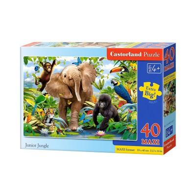 Castorland-B-040124 Extragroße Puzzleteile - Dschungel-Babies