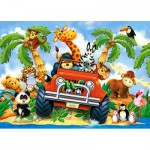 Castorland-B-040131 Minipuzzle - Stubenhocker auf Safari