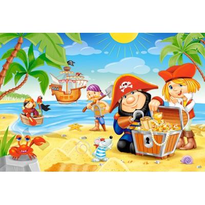 Castorland-B-040148 Minipuzzle - Der Piratenschatz