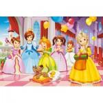 Castorland-B-040162 Minipuzzle - Feiernde Prinzessinnen