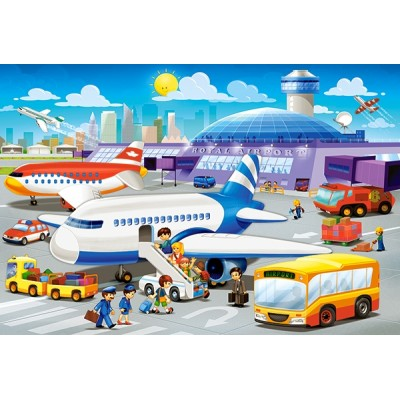 Puzzle Castorland-B-040223 XXL Teile - A Day at the Airport