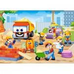 Puzzle  Castorland-B-06809 Baustelle