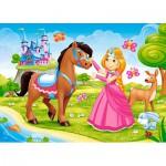 Puzzle  Castorland-B-06816 Die Prinzessin unter Freunden