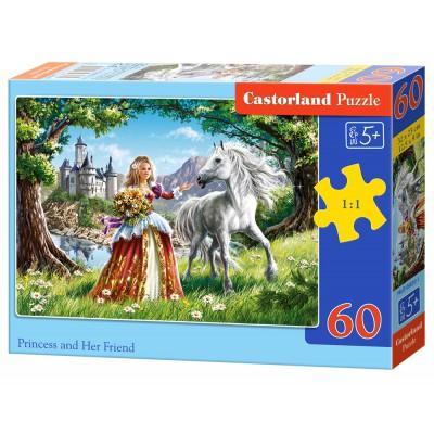 Puzzle Castorland-B-06830 Die Prinzessin und ihr bester Freund