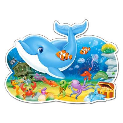 Castorland-B-120093 Formpuzzle - Freunde unter Wasser