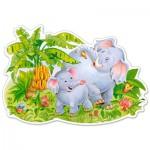 Castorland-B-120116 Formpuzzle - Spielende Elefanten
