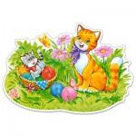 Castorland-B-120123 Formpuzzle - Katzenfamilie