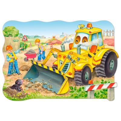 Castorland-C-02139 Maxi-Puzzle: Bulldozer im Einsatz