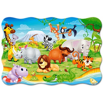 Puzzle Castorland-C-02276 XXL Teile - Tiere Afrikas